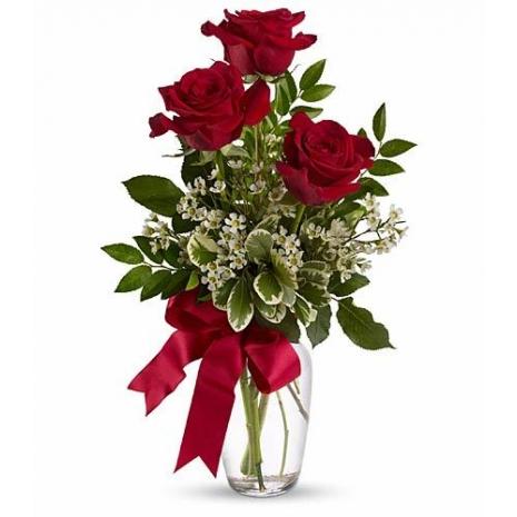 Send online order 3 red rose vase to philippines