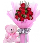 Send Flower With Bear to philippines