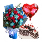Send Rose and Balloon with Cake to Philippines