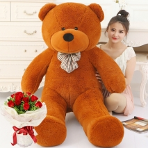5 ft giant bear with 12 red rose bouquet to philippines