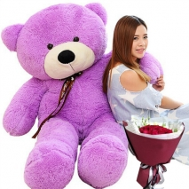 4 feet giant teddy with red rose bouquet to philippines