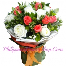 send forever 12 mixed rose bouquet to philippines