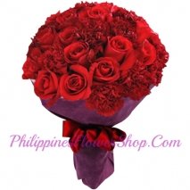 send thanks 12 roses with carnations to philippines