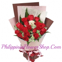 send paradise 12 red roses to philippines