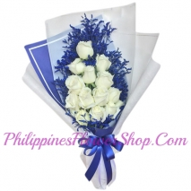 24 white rose to philippines