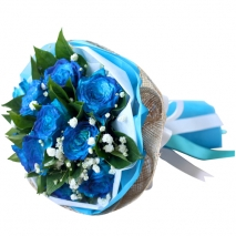 send dozen of blue roses in bouquet to philippines