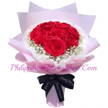 send dozen of red color roses bouquet to manila