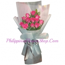 send bouquet of 1 dozen pink roses to philippines