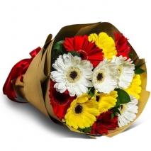 send a dozen of mixed color gerberas bouquet to philippines