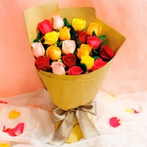 send 19 pcs mixed color roses in bouquet to philippines
