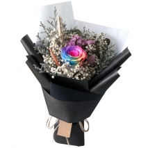 send single gorgeous rainbow roses bouquet to philippines