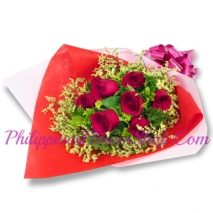 send 7 red roses in bouquet to philippines