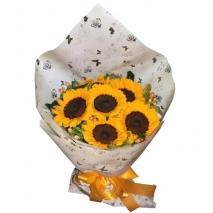 6pcs. sunflower bouquet