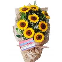 8 Pieces Sunflower Bouquet