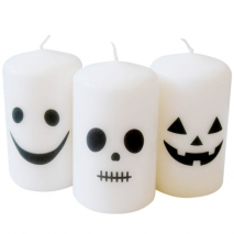 send 3 pecs halloween white candles to philippines