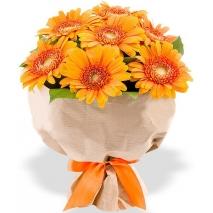 orange gerberas bouquet philippines