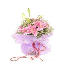 3 stem lilies bouquet