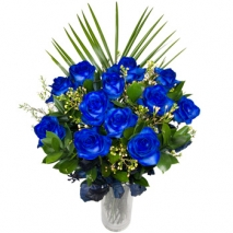 12 Blue Roses Send To Philippines