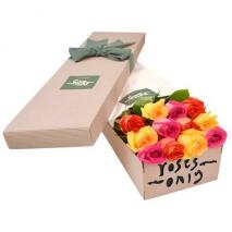 12 Mixed rose box  to Manila Philippines