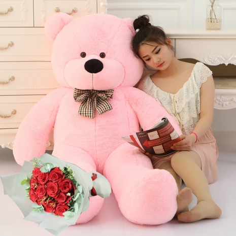 5 feet giant teddy bear with rose bouquet to philippines