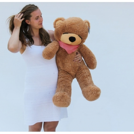 3 feet dark brown color giant bear to philippines