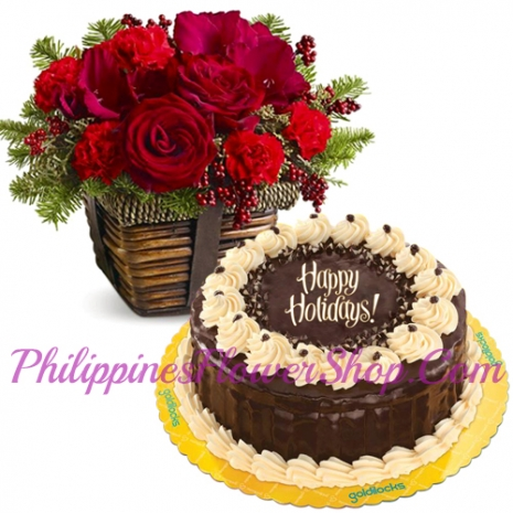 send flower basket with goldilocks cake to philippines