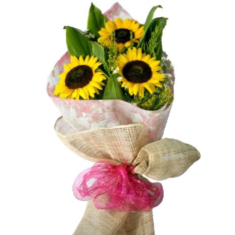 3 pieces sunflower bouquet to philippines