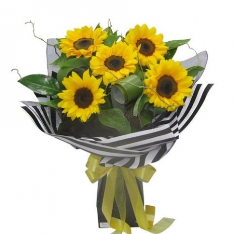5 piece sunflowers bouquet philippines