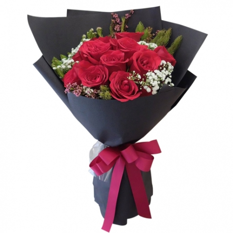 send truly blessing 12 red roses bouquet to philippine