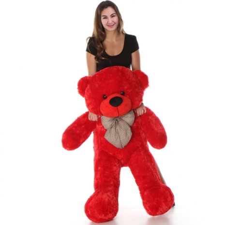 3 Feet Red Color Giant Bear to philippines
