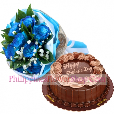 send fathers day roses with double dutch cake to philippines