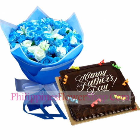send fathers day flower with chocolate cake to philippines