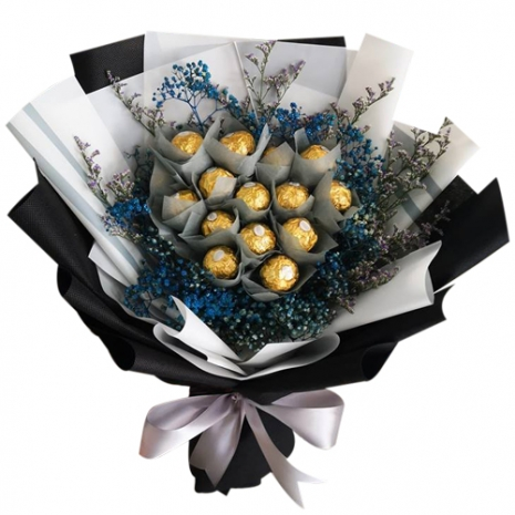12 Pcs. Ferrero Rocher Chocolate in Bouquet