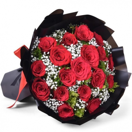 send 18 stems red color roses in bouquet to philippines