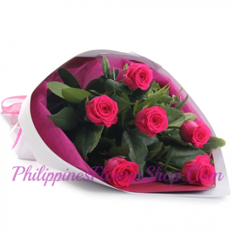 send earnest 6 pink roses bouquet to manila