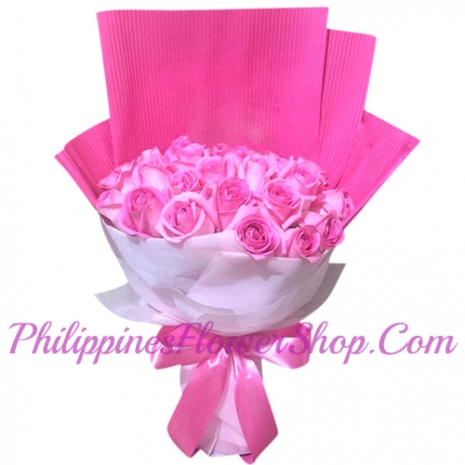 send commitment 24 pink roses to philippines