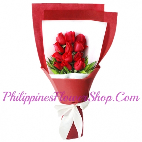 send a bouquet of 12 red roses to manila