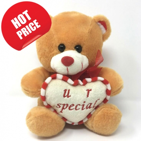 Brown Color Bear with Love Heart