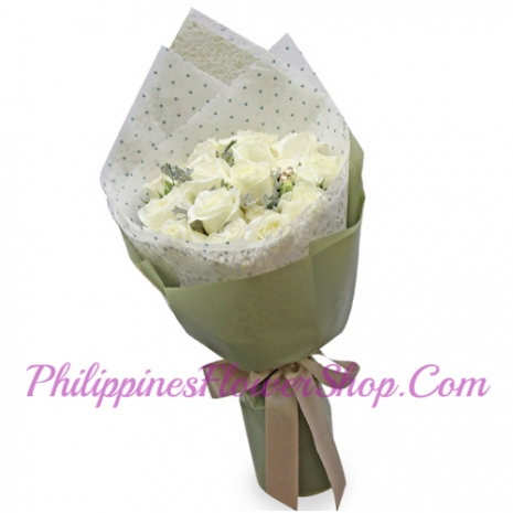 delivery 12 white roses to manila