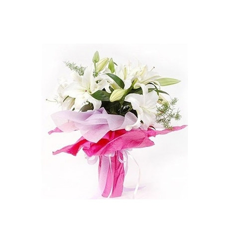 3 Stem White Lilies Bouquet