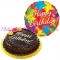 chocolate chiffon cake with birthday balloon to philippines