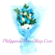 send 12 blue and white roses to philippines