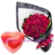 send 24 red roses with lindt chocolate to philippines