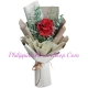 send single red color roses in bouquet to philippines