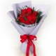 send 12 fresh red color roses in bouquet to manila