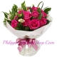 delivery 12 pink roses bouquet to philippines