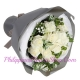 send simple 12 white roses bouquet to philippines
