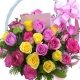 24 Soft Pink, Hot Pink & Yellow Roses to philippines