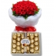 24 Red Roses bouquet with Ferrero chocolate To Philippines